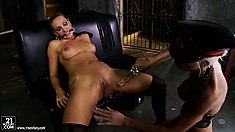Harsh vaginal mistress is going to please her magnificent sex slave