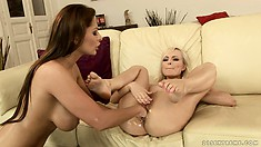 Bianca Golden and Alison Star get right down to business with the pussy fisting