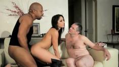 Giselle Leon and Shane Diesel makes her boyfriend watch a cuckolding