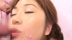 Watch all these Asian girls get covered in cum just about every way they can