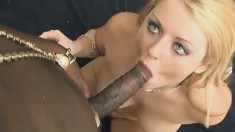 Big breasted blonde milf with a sublime ass loves them black and huge