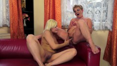 Blonde Pussy-lover Wants To Get Her Cunt Licked By A Horny Granny