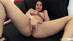 Busty brunette Charley Chase with a hot ass fingers and toys puss
