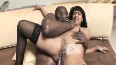 Bodacious Destiny Deville struggles with Lexington Steele's huge cock