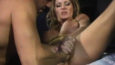 Buxom cougar is on the lookout for a deep drilling and a hot cumload