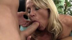 Horny MILFs go after one guy to see who can make him cum first