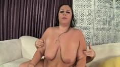 Chubby housewife delivers a great blowjob and then gets nailed hard