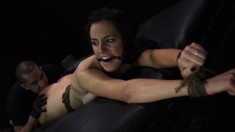 Danica James takes a long shaft down her throat and deep in her pussy