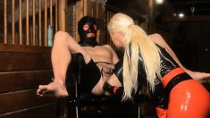 Mistress Carmen Rivera And Friends Fist Fuck Their Slave's Ass