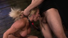 Stacked nympho Dani Dare has a fiery pussy needing to be banged rough