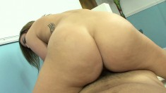 Gorgeous blonde with a marvelous ass is yearning for wild sex action