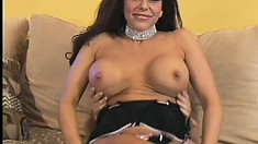 Wild brunette cougar with big tits and a fabulous ass Victoria Valentino wants to fuck