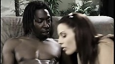 Lovely brunette with a spicy ass Brittany loves to take a huge black rod in her cunt