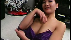 Massage session with two Asian hotties ends up with hardcore anal
