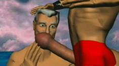 Hilarious cartoon animation of homo sex in a hot air balloon