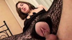 Fresh young babe begs for more after her first sexual experience
