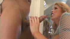 Topnotch scrubber with amazing globes Brooke gets her crack fucked