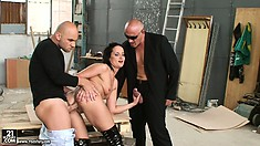 Welcome To The Backstage Of A Hardcore Mmf Porn Shoot With Sexy Euro Brunette