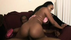 Eager black chick gets her pussy licked by her handsome lover