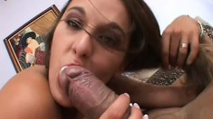 Ain't no way back for Poppy Morgan - she's taking this huge dick in her ass!