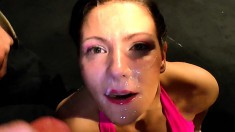Nasty girls love to get fucked in the ass and to swallow all the cum