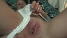 Alluring blonde cougar Emy sucks a dick and gets drilled deep in POV