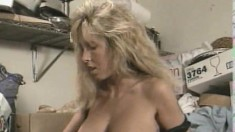 Horny long haired blonde does back and forth oral with her lover
