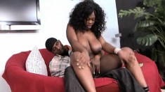 Bodacious ebony girl Selita Bly gets her peach drilled by a black man
