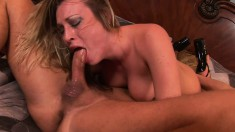 Harmony Rose loves to gobble down a monumental stiff love rod