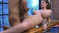 Kayla Quinn cooks up some cock delight and gets nailed on the table