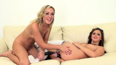 Lesbian lovers Cleo and Hope relish the taste of each other's pussies