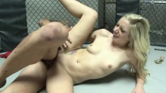 Elegant blonde with a lovely ass engages in wild sex with a hung guy