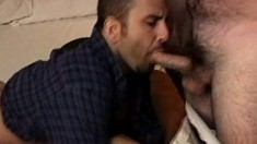 Horny dude blows a long pole before it invades his ass from behind