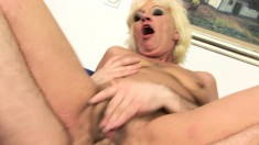Alluring blonde mature lady gets fucked hard and screams with pleasure