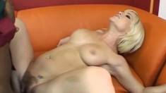 Canadian blonde with lovely tits finds it hard to resist a black dick