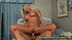 Charity McLain shows off her big bouncing titties while riding