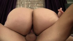 Fat lady with a huge booty embarks on a wild adventure with a hung guy
