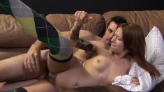 Lovely Babe With Perky Tits Alyssa Branch Enjoys A Vibrator And A Cock