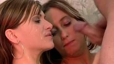 Amateur FFM threesome with facial cumshot