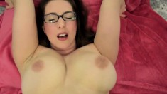 Hot milf Sharon Pink washing her massive boobs