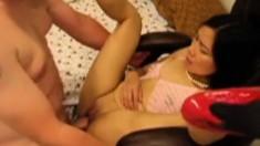 Hot Asian Slut Fucked On Chair