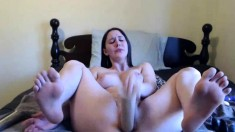 Chubby Curvy Teen Big Dildo Masturbation EASY