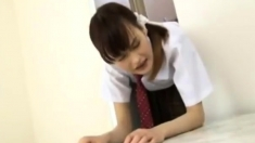 Nice teen slut in school uniform hardcore action