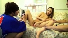 Asian Amateur Masturbates His Small Dick