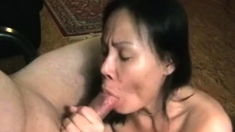 Japanese Asian Mature Licking Dick