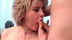 Hardcore blonde milf blowjob porn