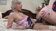 Madeline and Rosa are two lesbians that want nothing to do with the man's hairy butt