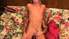 Hot blonde broad with a big butt lets a rock star go balls deep