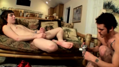 Gay twink eating cum and grandpa with twinks the woods