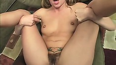 Slender babe with tiny boobs welcomes a huge black cock deep in her tight anal hole